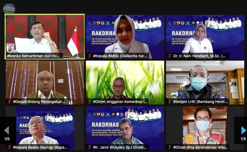 Rapat Koordinasi Nasional (Rakornas) Antisipasi Bencana Hidrometeorologi, Gempabumi-Tsunami Tahun 2020/2021 untuk Mewujudkan Zero Victims