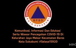 Komunikasi, Informasi Dan Edukasi Serta Wawar Pencegahan COVID-19 Di Kel. Jaya Mekar Kota Sukabumi